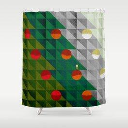 082 - Christmas tree holiday pattern I Shower Curtain