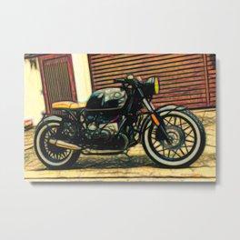 Cafe Racer Motorbike Metal Print
