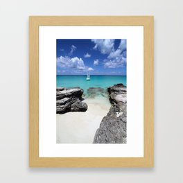 Yachting in Bimini Bay Framed Art Print