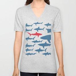 Swim with sharks Unisex V-Neck
