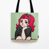 death cab for cutie Tote Bags featuring Cutie by Keasy