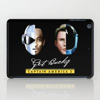 bucky barnes iPad Cases featuring Up All Night to Get Bucky by robin