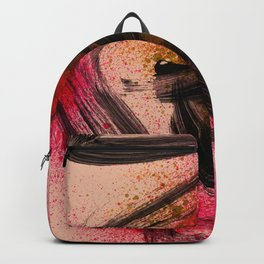 Japanese Style Abstract on Apricot Backpack