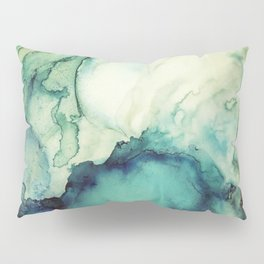 Teal Abstract Pillow Sham
