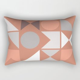 Mid Century Modern Geometric 18 Rectangular Pillow