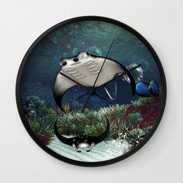 Awesome manta Wall Clock
