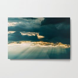 Let There Be Light, Sunshine After Rain, Storm Clouds, Summer Sky, Wall Art Print, Large Art Print Metal Print