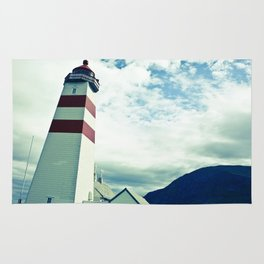Lighthouse in norway Rug