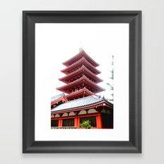 Japanese Pagoda Framed Art Print