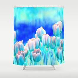 Tulips in Spring Abstract Shower Curtain