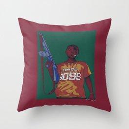 Boss King Throw Pillow