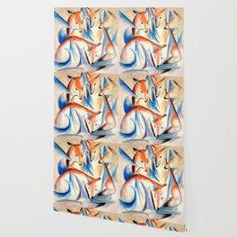"Franz Marc ""Four foxes"" Wallpaper"