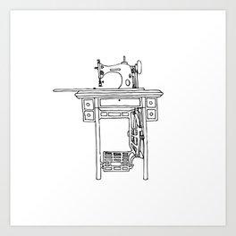nek's sewing machine Art Print