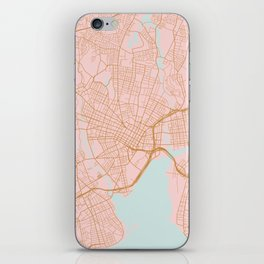 New Haven map, Connecticut iPhone Skin