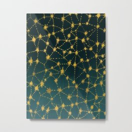 Stars Map Metal Print