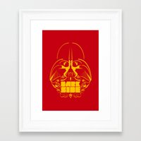 dark side Framed Art Prints featuring Dark Side by francescoporoli