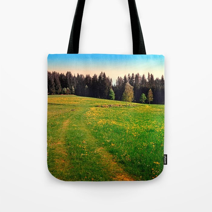 Outdoors in sunny spring Tote Bag