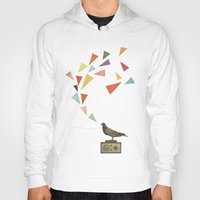radio Hoodies featuring Pigeon Radio by Cassia Beck