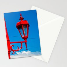 BLUE SKY RED LAMPS Stationery Cards