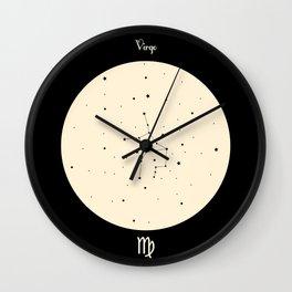 Virgo - Black Wall Clock