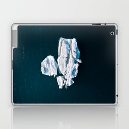 Lone, minimalist Iceberg from above - Landscape Photography Laptop & iPad Skin