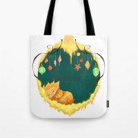 sandman Tote Bags featuring Sandman Circlet by Z Doodle