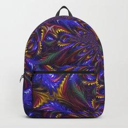 Blue Feathered Kaleidoscope Backpack