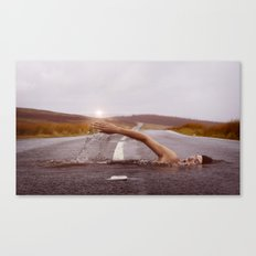 Swimmer in the Road Canvas Print