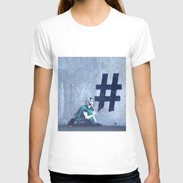 Graffiti Hashtag girl T-shirt