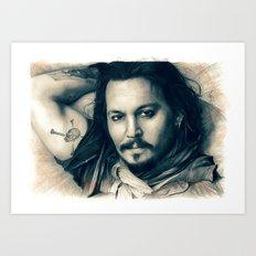 Johnny Depp II. Art Print