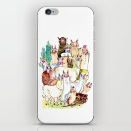 Wild family series - Llama Party iPhone Skin