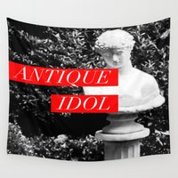 antique Wall Tapestries featuring Antique Idol by John Weeden