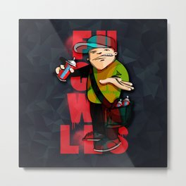 Graffiti Vandal Metal Print
