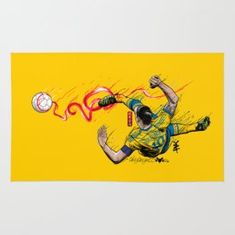 FantaSweden Zlatan Swirl  Rug