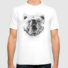 Grizzly LARGE White Mens Fitted Tee