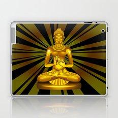 Buddha Siddhartha Gautama Golden Statue Laptop & iPad Skin