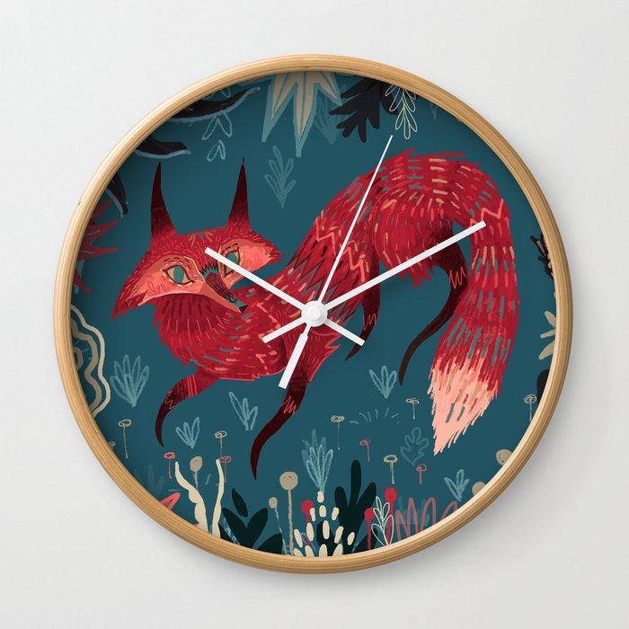 F O X ! Wall Clock