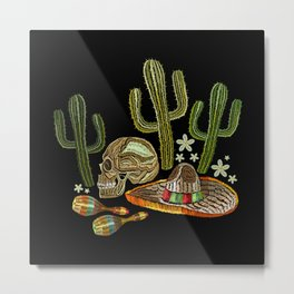 Mexican Embroidery Metal Print