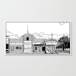 The abandoned truck stop Canvas Print