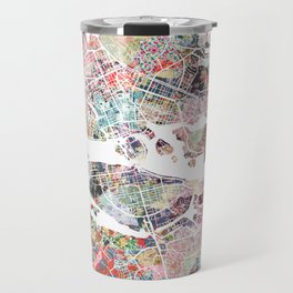 Stockholm map Travel Mug