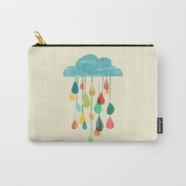 cloudy with a chance of rainbow Carry-All Pouch