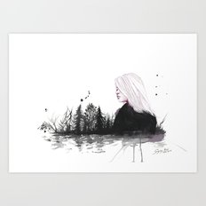 dried-out rivers Art Print