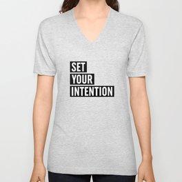 Set Your Intention Unisex V-Neck