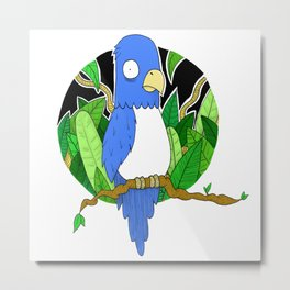 Stressed Blue Bird Metal Print