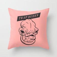 Trap Queen Throw Pillow