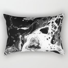Monochrome Lava Flow Rectangular Pillow
