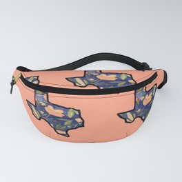 Blue Texas Pink Background Fanny Pack