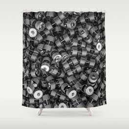 Chrome dumbbells Shower Curtain
