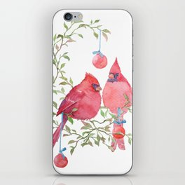 CHRISTMAS CARDINAL 2017 iPhone Skin