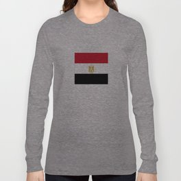 flag of egypt- Egyptian,nile,pyramid,pharaon,cleopatra,moses,cairo,alexandria. Long Sleeve T-shirt